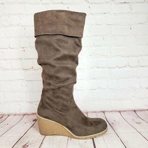 Bass Eden Wedge Boots, Tall Knee High Boots